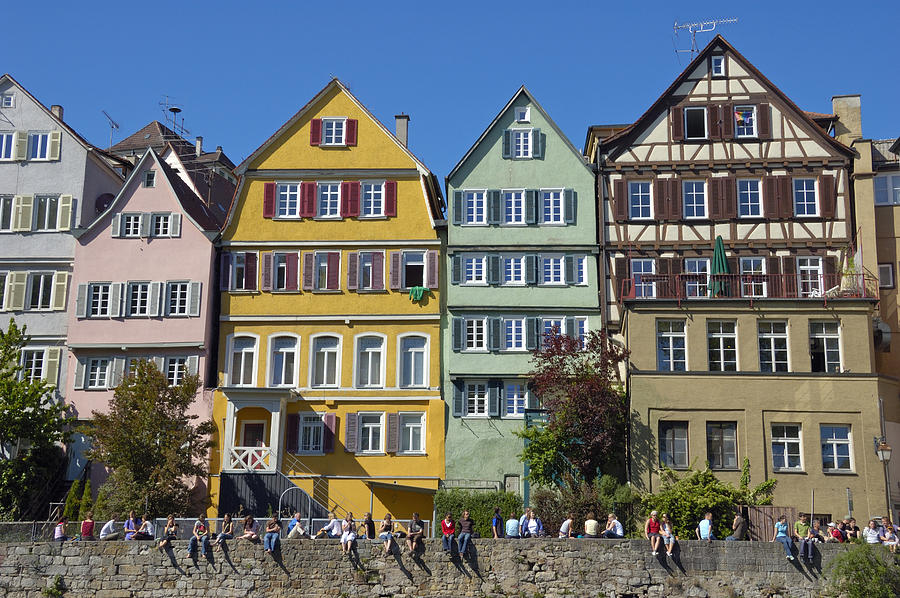 Colorful old houses in tuebingen germany photograph by for Big houses in america