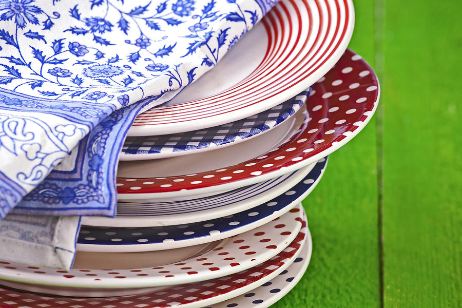 Colorful Plates Photograph  - Colorful Plates Fine Art Print