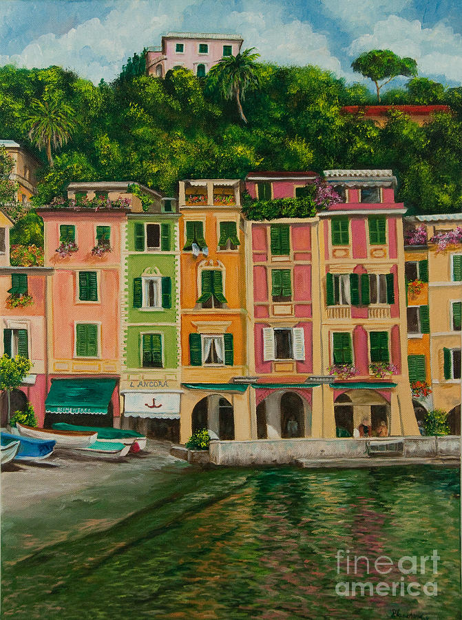 Colorful Portofino Painting  - Colorful Portofino Fine Art Print
