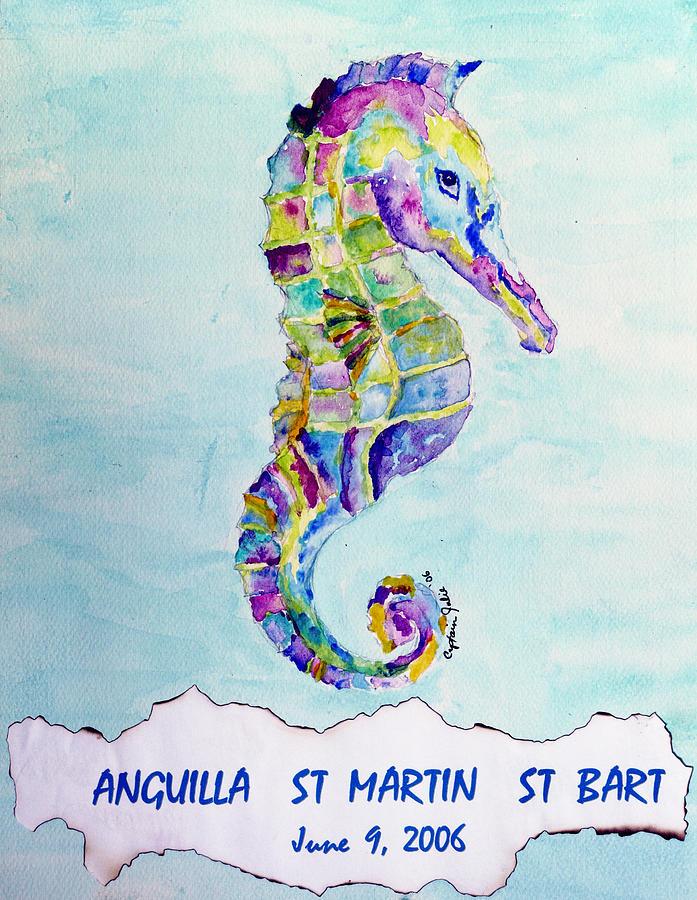 Colorful Seahorse by Captain Julie
