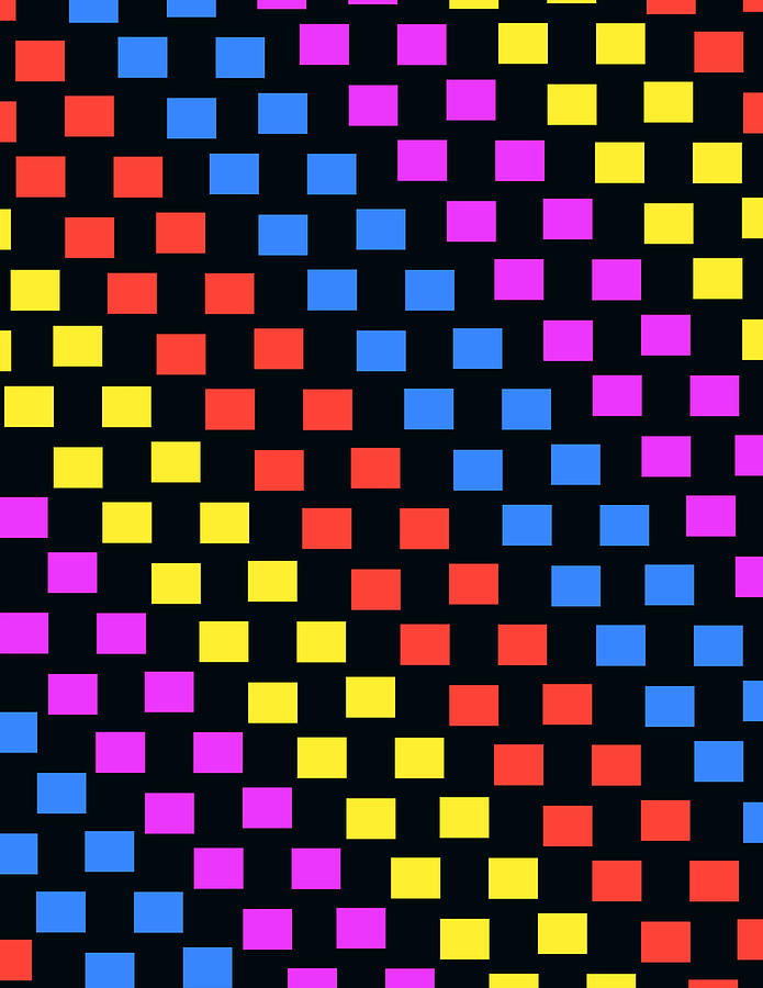 Colorful Squares Digital Art  - Colorful Squares Fine Art Print