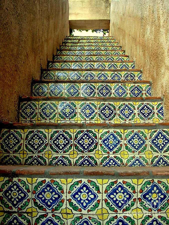 Colorful Stairway Photograph