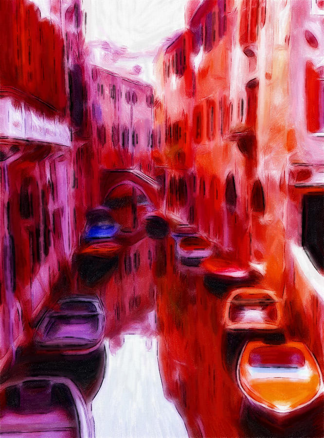 Colorful Venice Oil Pastels Pastel