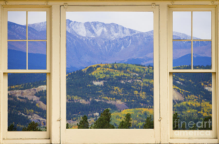 Colorful Rocky Mountain Autumn Picture Window View