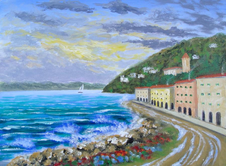 Colors Of The Riviera Painting