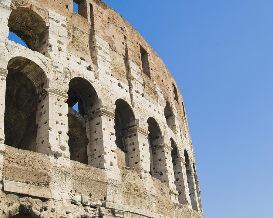 Colosseum Detail Photograph