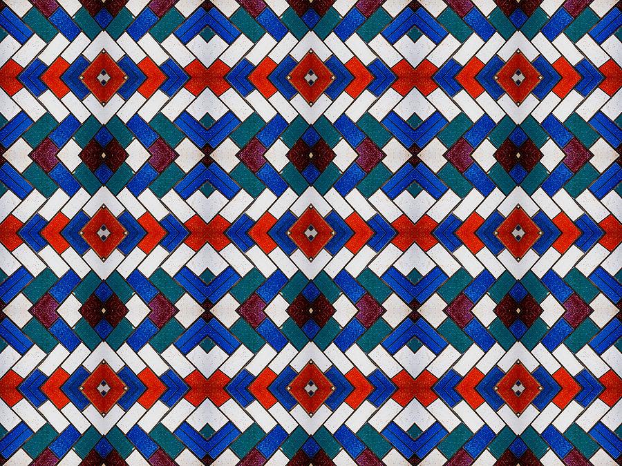 Tiles Photograph - Colourful Tile Symmetry by Hakon Soreide