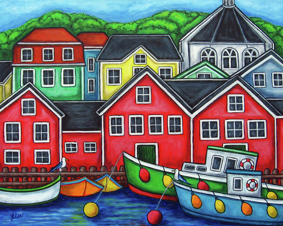 Colours Of Lunenburg Painting  - Colours Of Lunenburg Fine Art Print