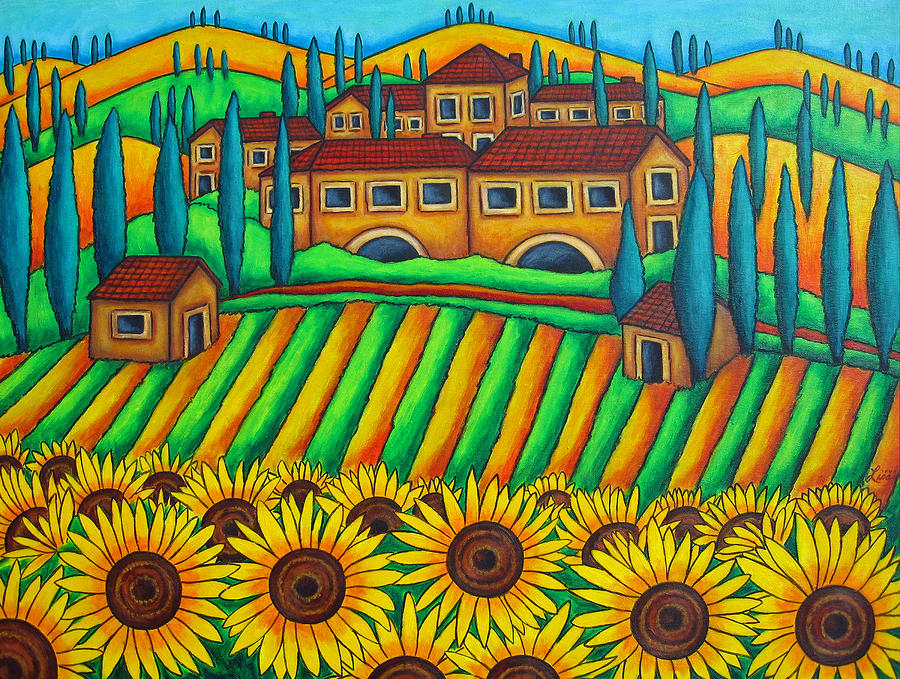 Colours Of Tuscany Painting  - Colours Of Tuscany Fine Art Print