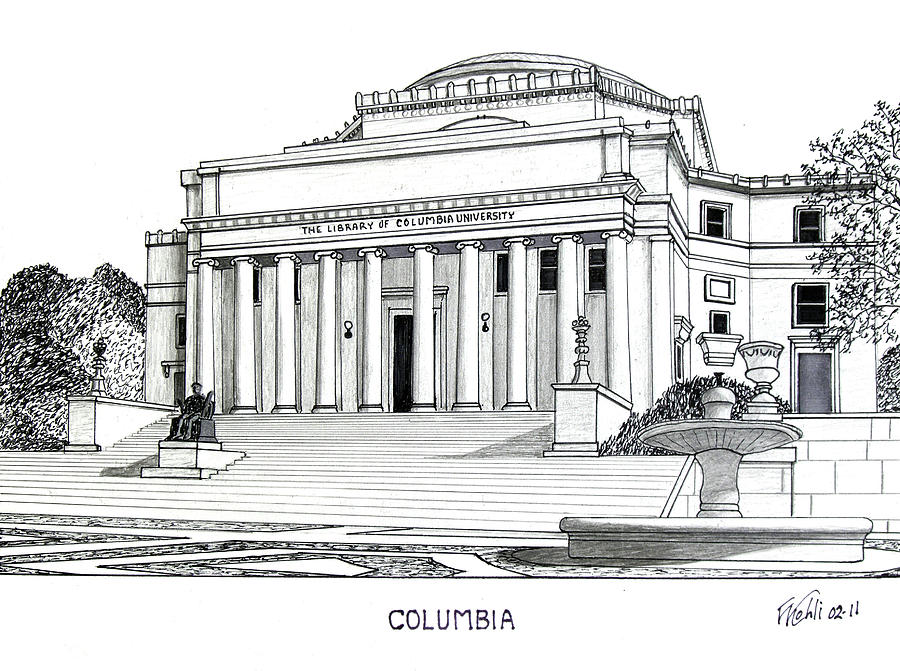 Columbia Drawing  - Columbia Fine Art Print