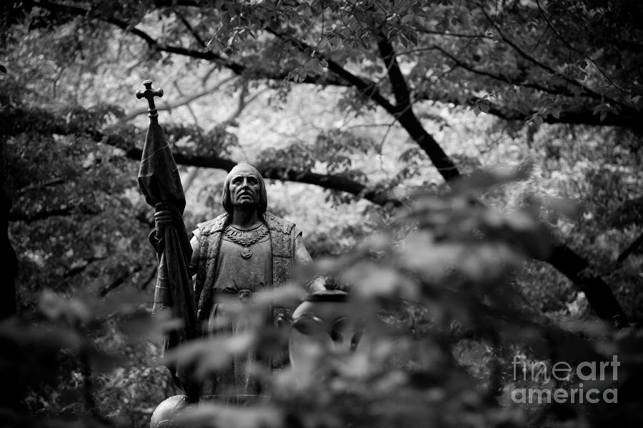 Columbus In Central Park Photograph