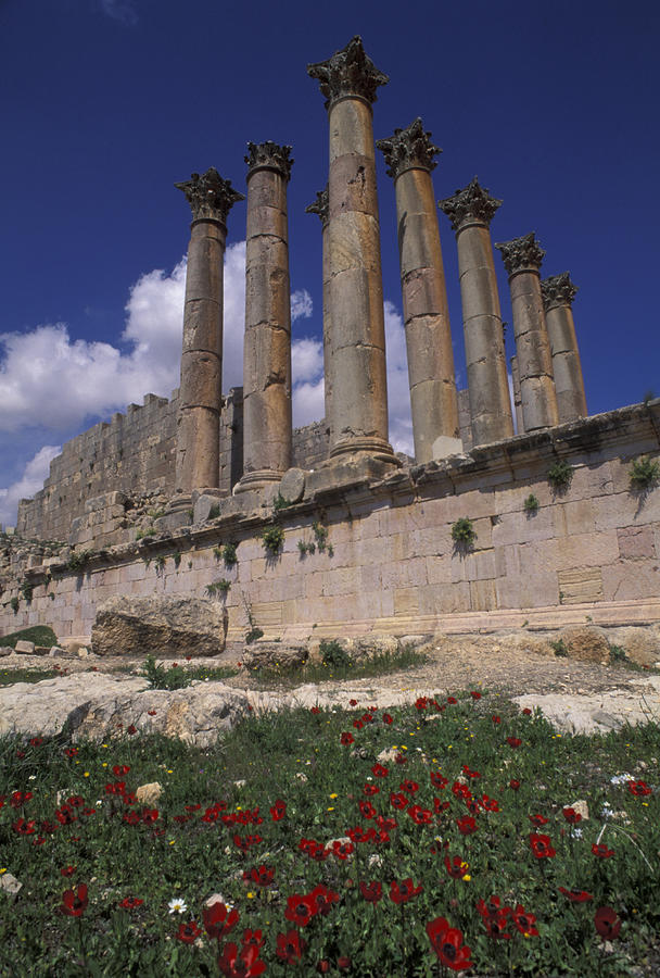 Columns In The Ancient Roman City Photograph