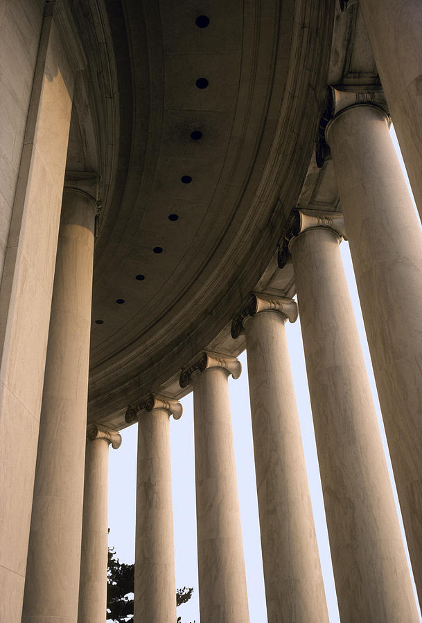 Columns Surround The Jefferson Statue Photograph