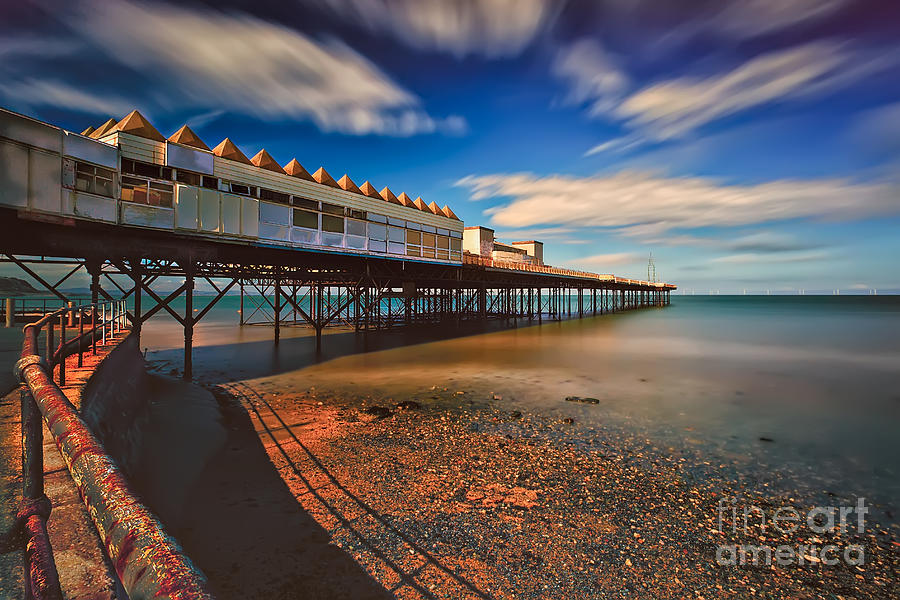 Architecture Photograph - Colwyn Pier by Adrian Evans