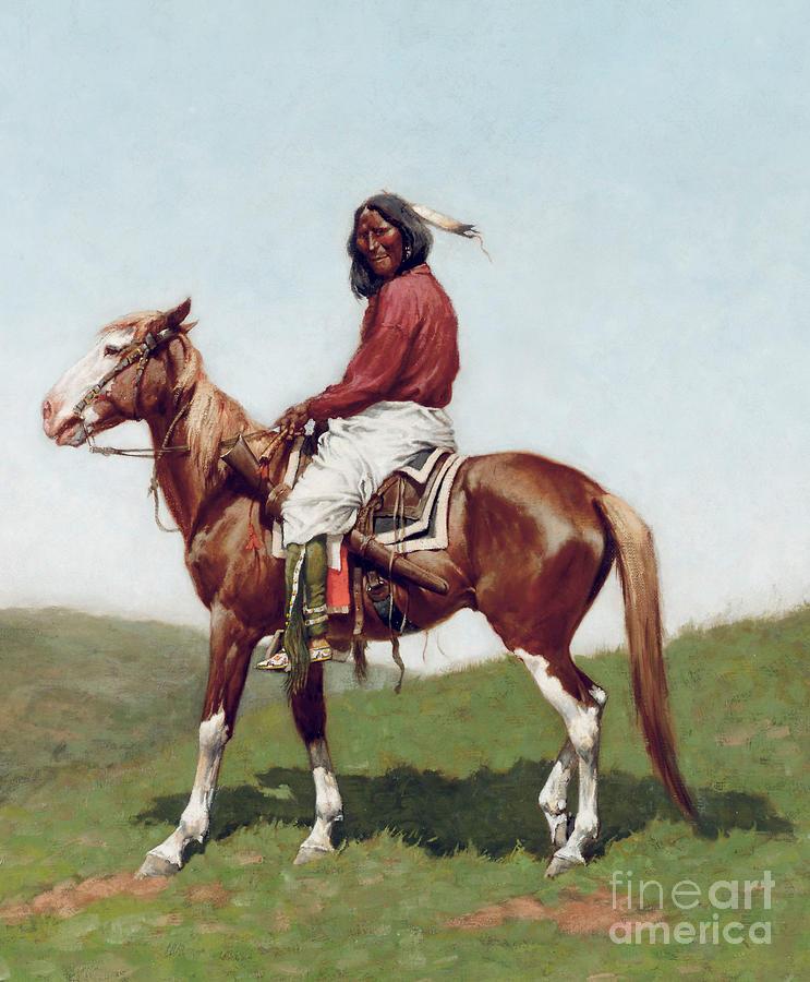 Comanche Brave Painting
