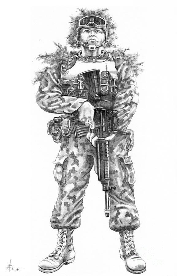 How To Draw USARMY Soldier