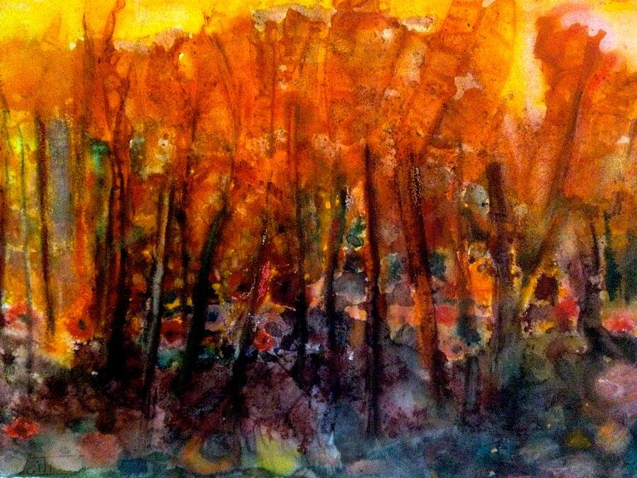Imaginative Land Scape Painting - Combination Of Light by Giti Ala