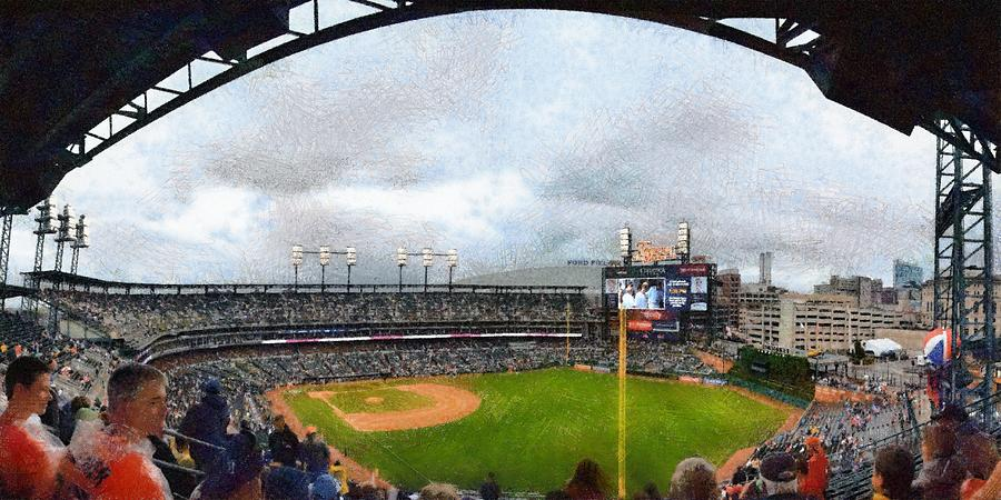 Comerica Park Home Of The Detroit Tigers Photograph  - Comerica Park Home Of The Detroit Tigers Fine Art Print