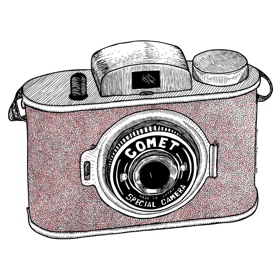 Comet Camera Drawing  - Comet Camera Fine Art Print