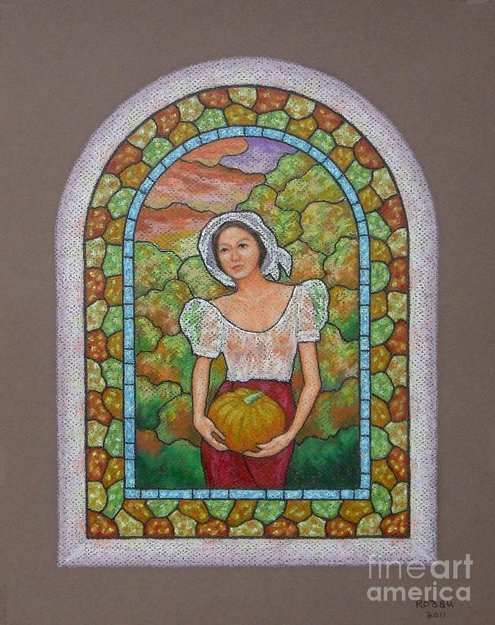 Woman Pastel Pastel - Coming Home by Rolando Bautista