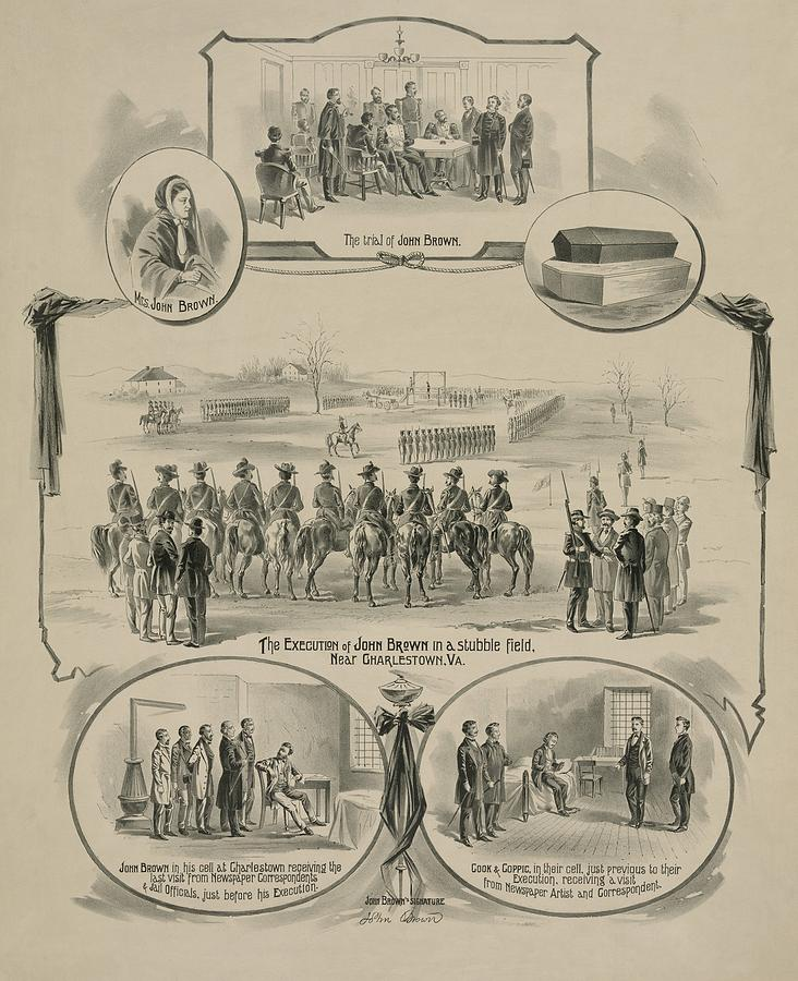 Commemorative Print Depicting The Trial Photograph