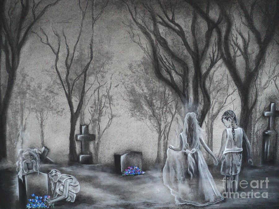 Cemetary Drawing - Communion by Carla Carson