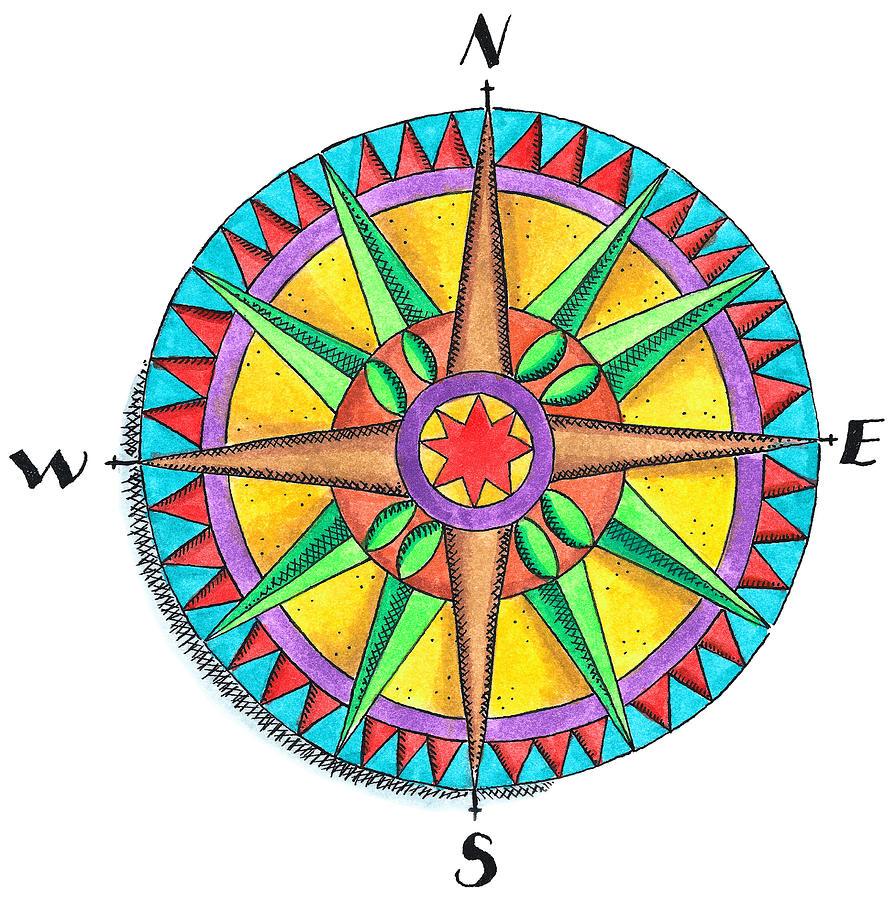 Compass Rose Digital Art