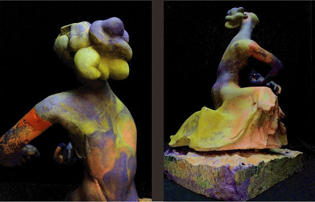 Compensation-orange-purple-yellow Sculpture