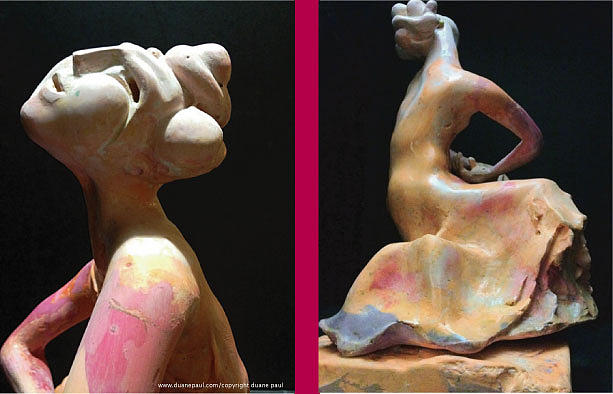 Compensation-pink- Dusty Orange-purple Sculpture