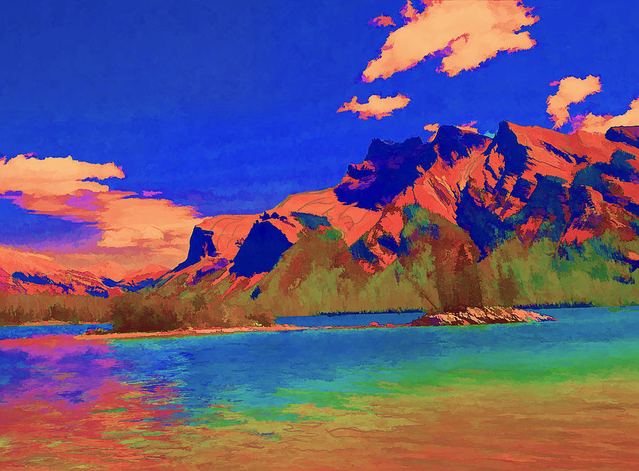 Complementary Mountains Digital Art  - Complementary Mountains Fine Art Print
