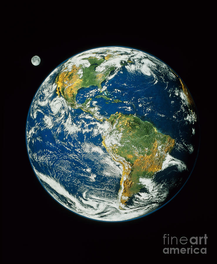 Composite Image Of Whole Earth Blue Photograph By Nasa