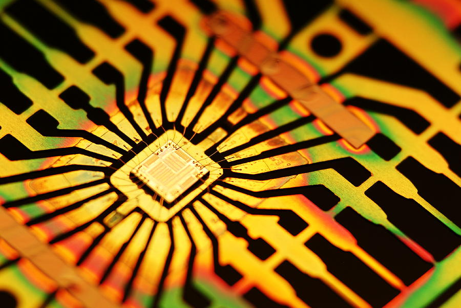 Computer Microchip Photograph