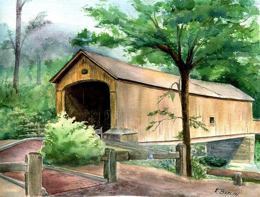Comstock Bridge Painting  - Comstock Bridge Fine Art Print