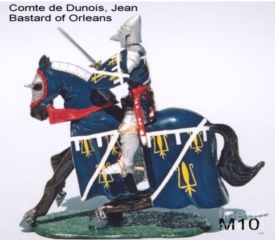 Comte de dunois french jean bastard of orleans sculpture