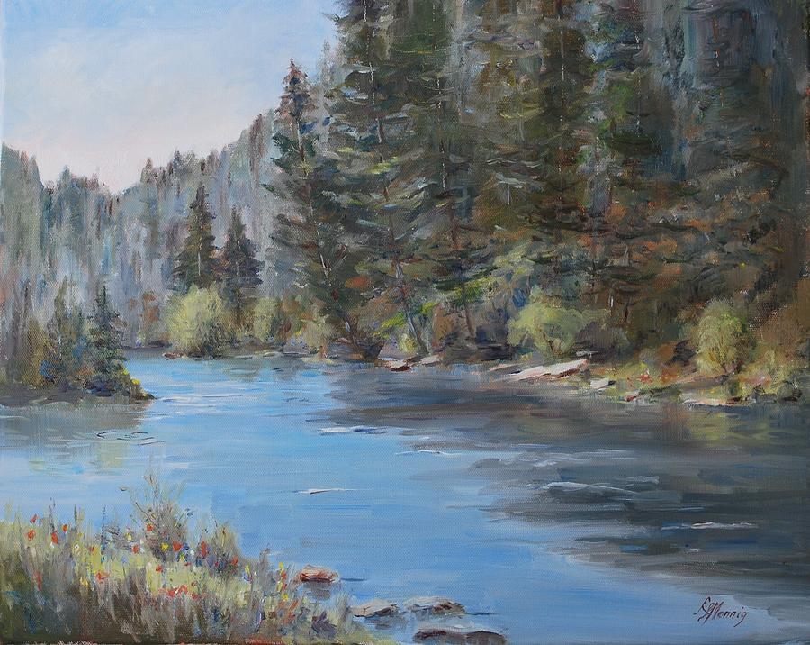 Conejos River Painting