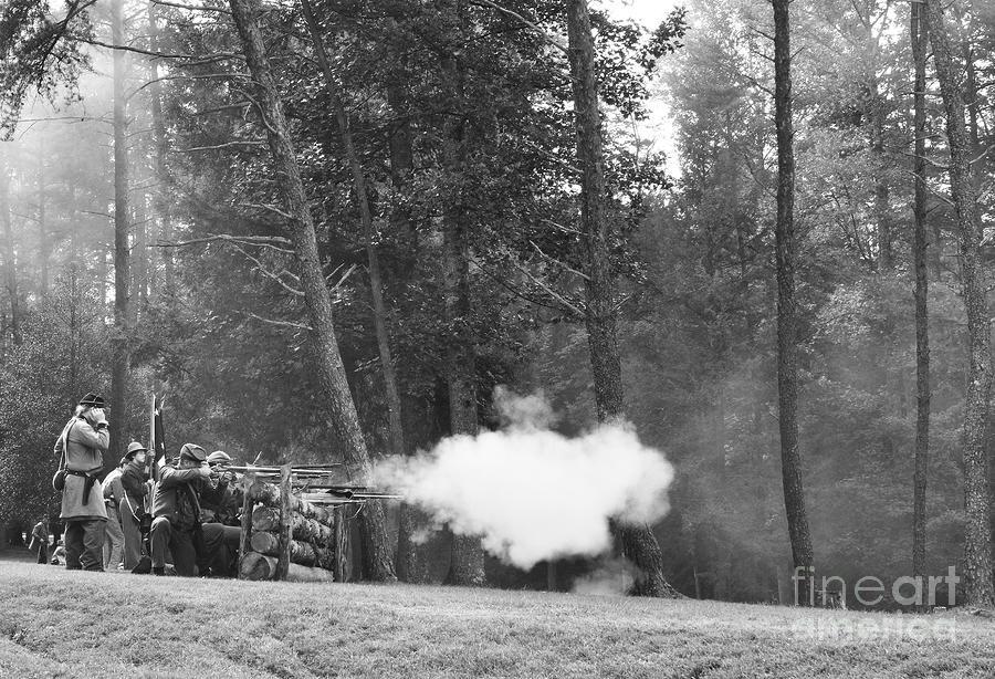 Carnifax Ferry Battlefield Photograph - Confederate Breastworks Carnifax Ferry by Thomas R Fletcher