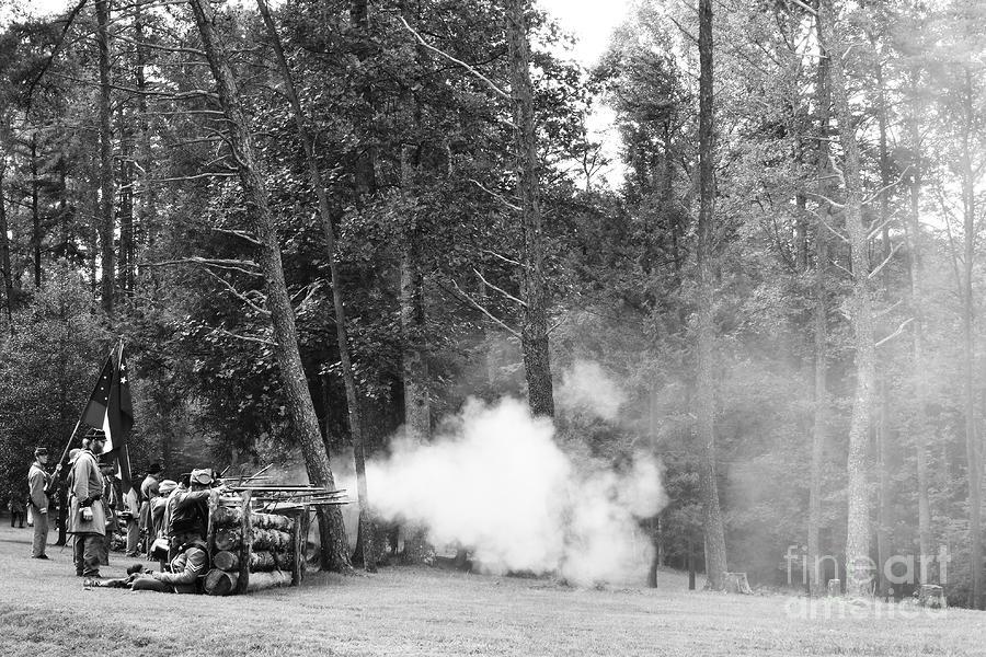 Confederate Breastworks Photograph