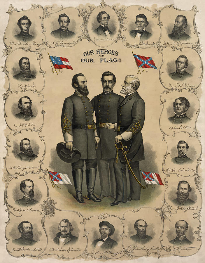 Confederate Generals Of The Civil War Painting  - Confederate Generals Of The Civil War Fine Art Print