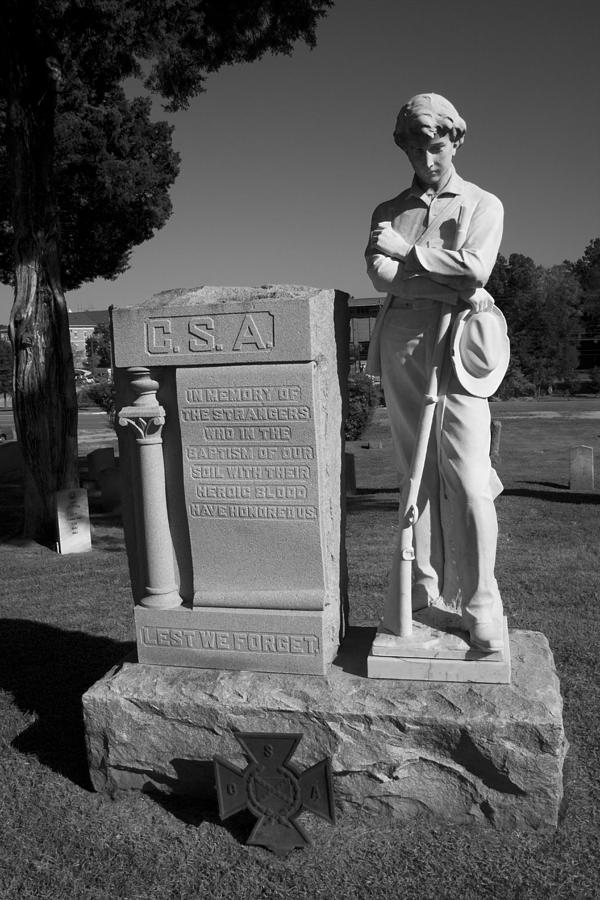 Csa Photograph - Confederate Soldier Memorial by Kathy Clark