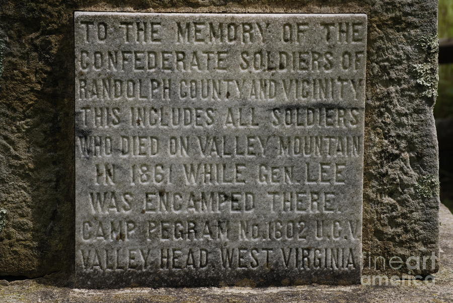 Confederate Solider Monument Photograph