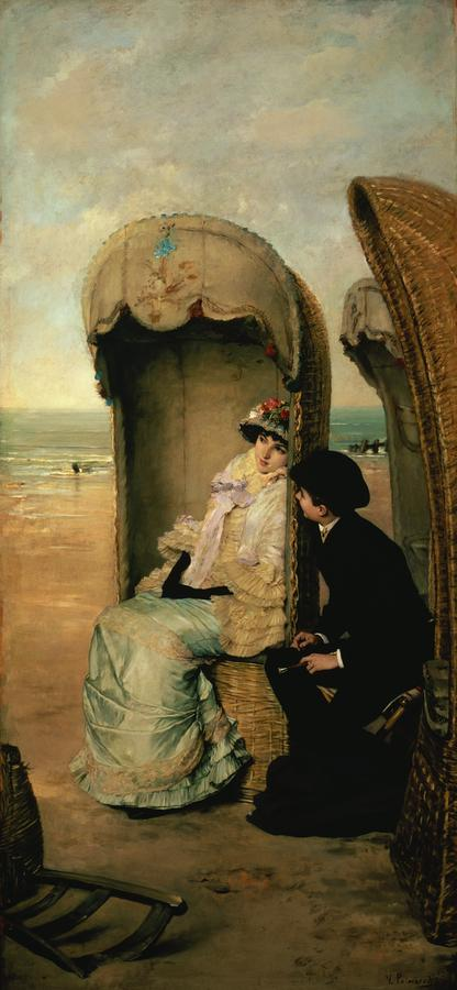 Confidences On The Beach Painting
