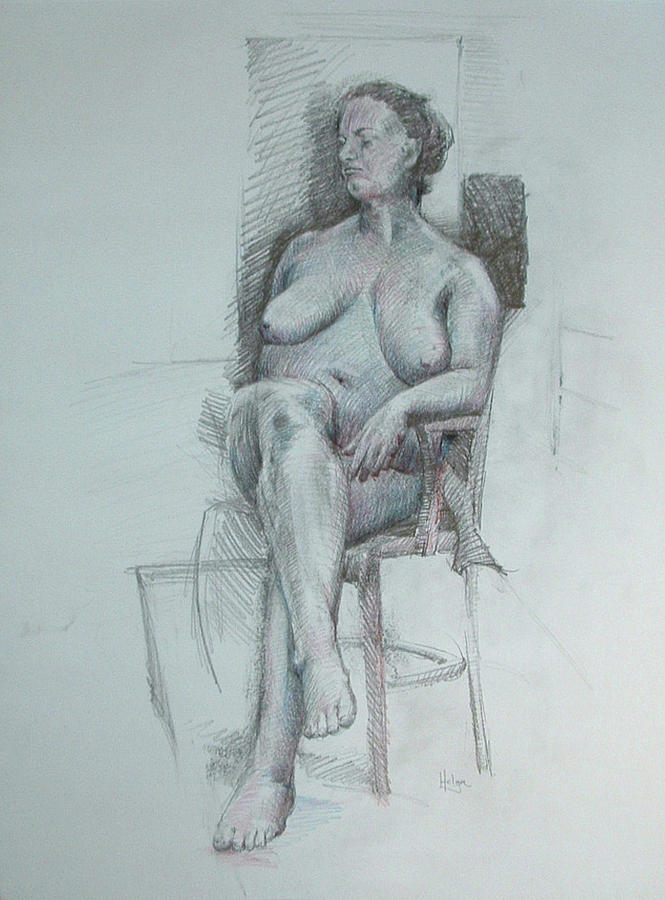 Confident Nude Drawing