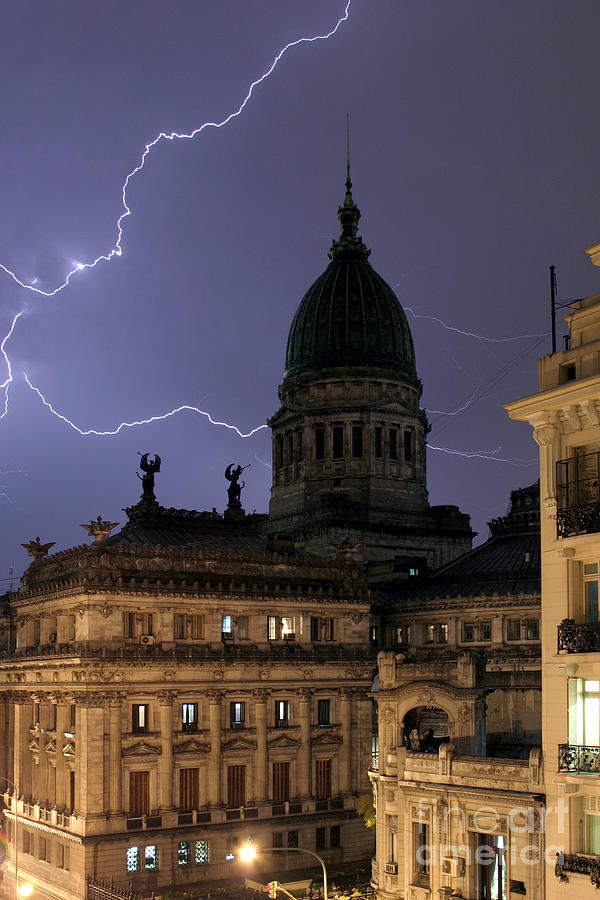 Congreso Lightning Photograph  - Congreso Lightning Fine Art Print