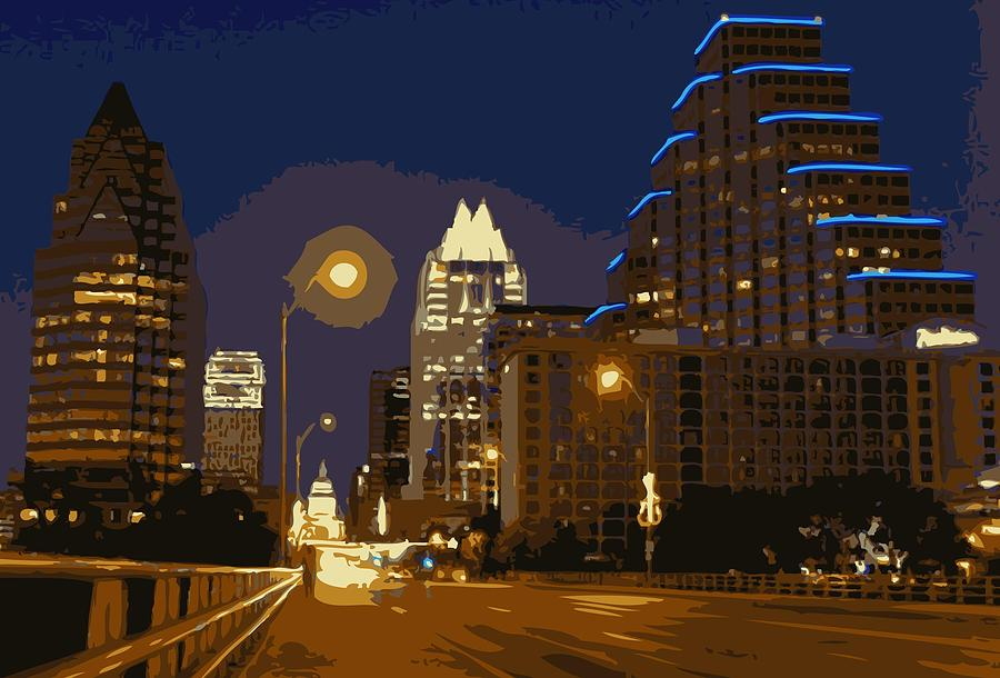 Austin City Limits Photograph - Congress Street Bridge Color 16 by Scott Kelley