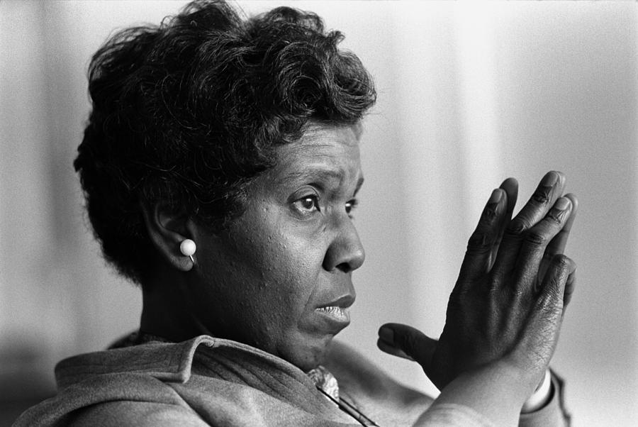 Congresswoman Barbara Jordan. In 1966 Photograph  - Congresswoman Barbara Jordan. In 1966 Fine Art Print