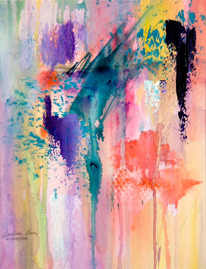 Abstract Painting - Connection by Barbara Barry-Nishanian