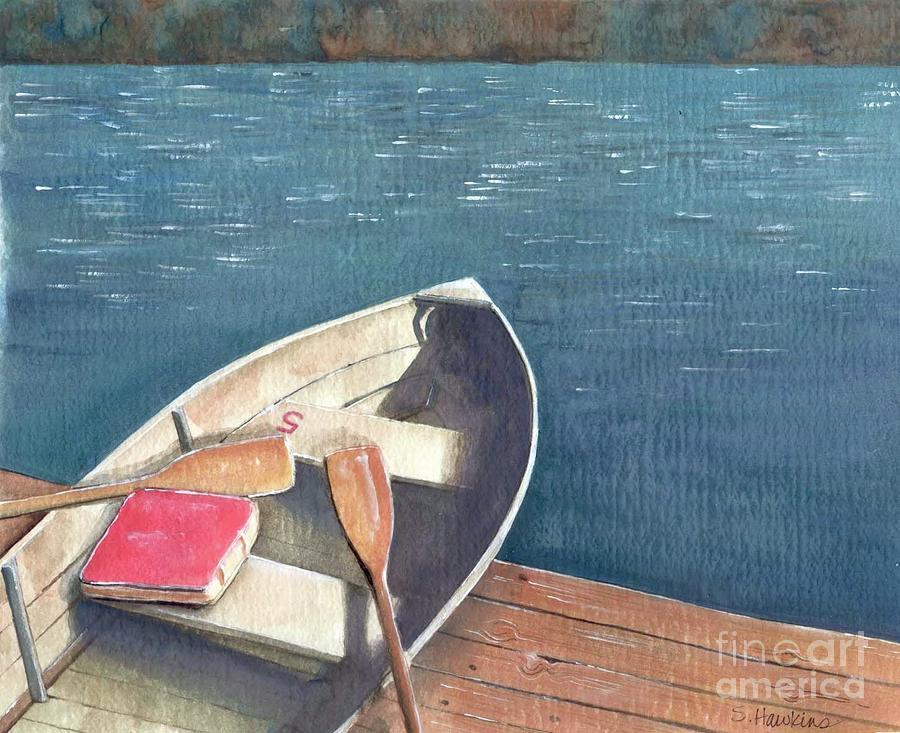 Connetquot Park Row Boat Painting