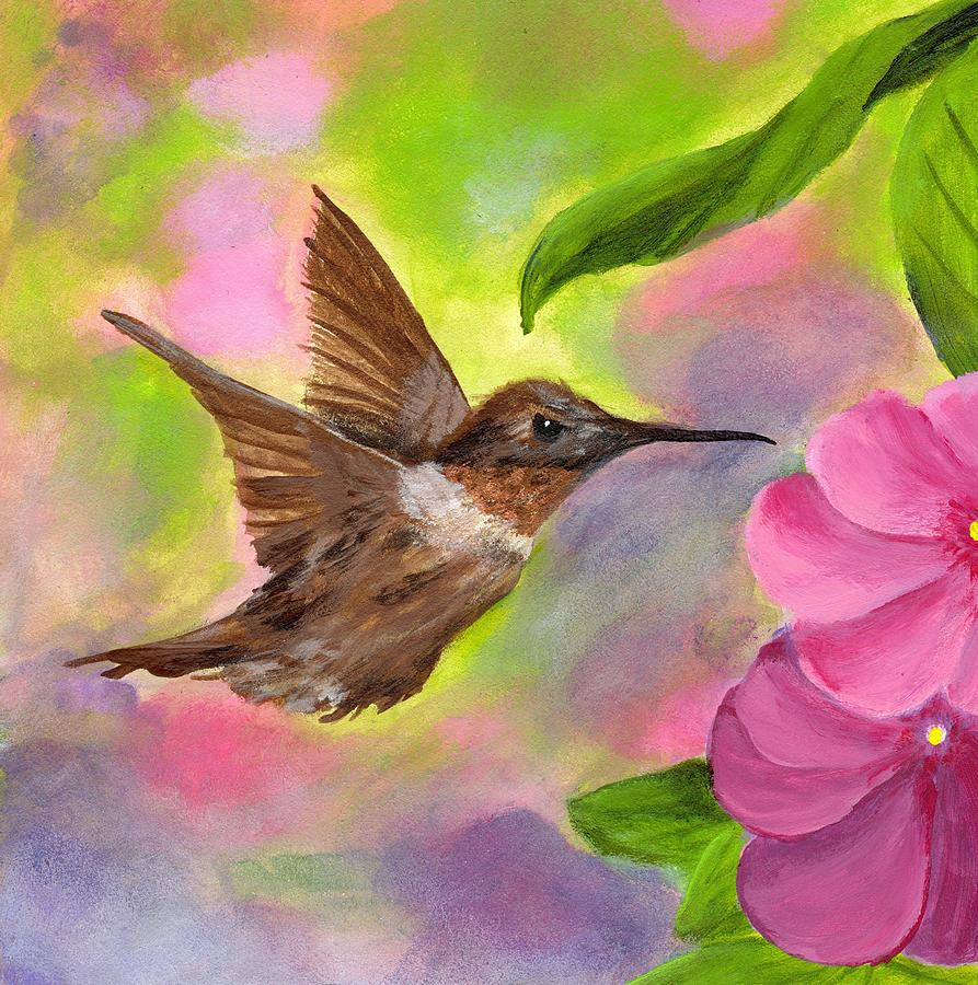Hummingbird Painting | www.imgkid.com - The Image Kid Has It!