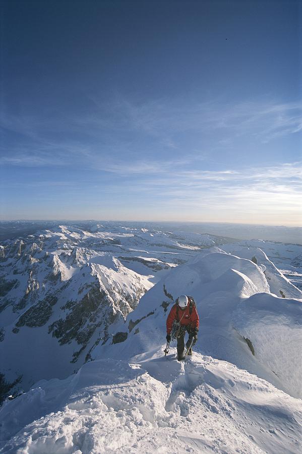 Conrad Anker Summits A Mountain Photograph
