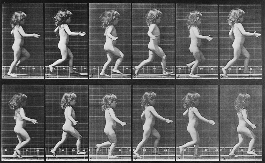 Consecutive Images Of A Little Nude Photograph